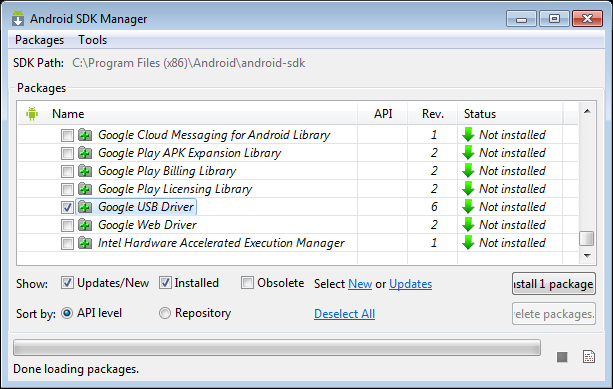 Tutorial: Manually installing Android ADB USB Driver