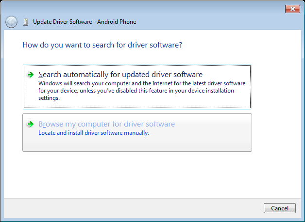how to manually install usb drivers