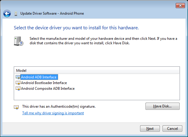 How to fix no driver found 'adb interface' in windows 7 youtube.