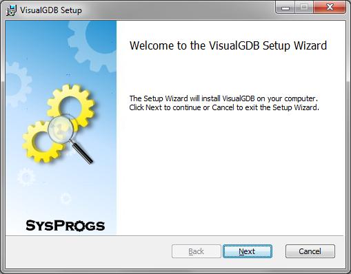 VisualGDB full screenshot