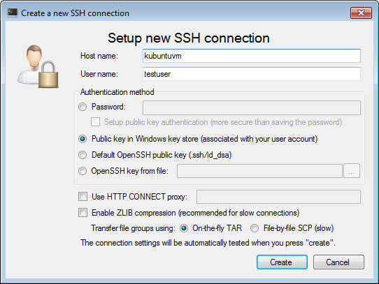 VisualGDB: SSH Connection Manager
