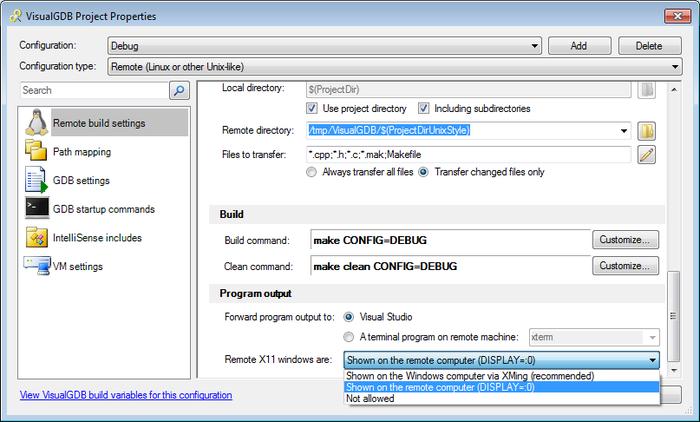 VisualGDB: Easy X11 Application Debugging