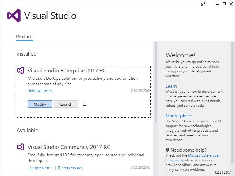 visual studio p30download