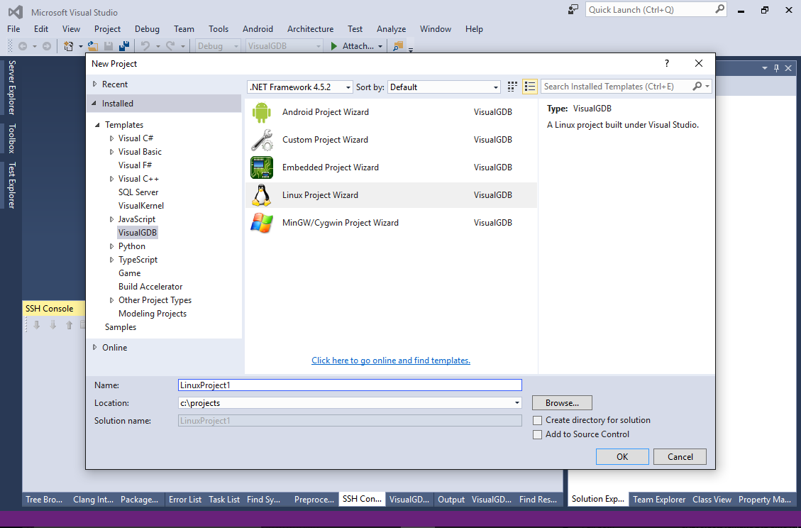 Using Visual Studio to develop Linux apps – VisualGDB Tutorials