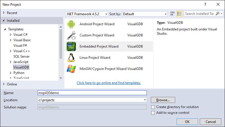 Using Visual Studio to develop MSP430 firmware – VisualGDB Tutorials