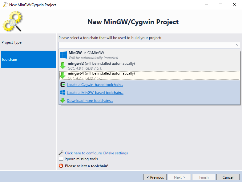 Creating MinGW64 applications with Visual Studio – VisualGDB