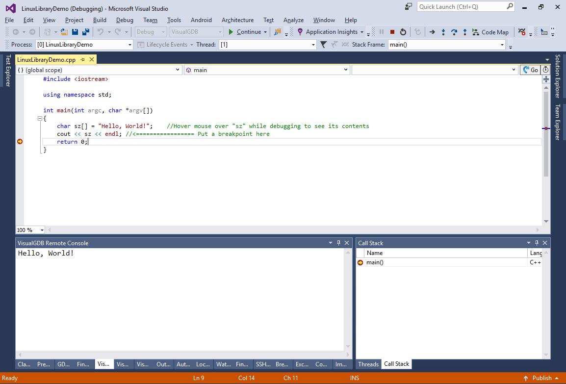 Creating Linux Libraries with Visual Studio – VisualGDB