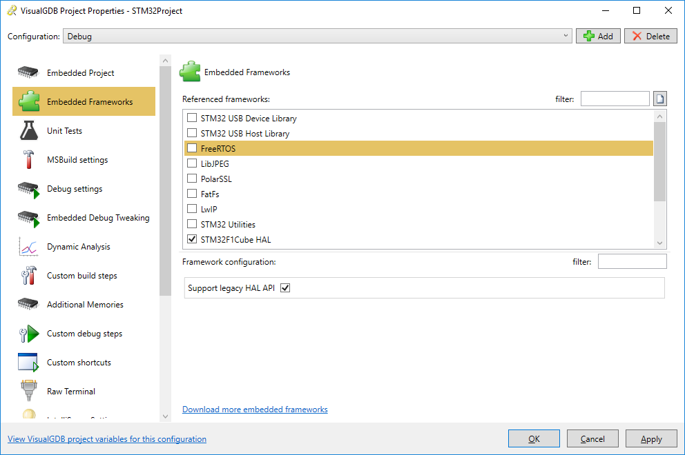 Developing STM32 projects with Visual Studio – VisualGDB