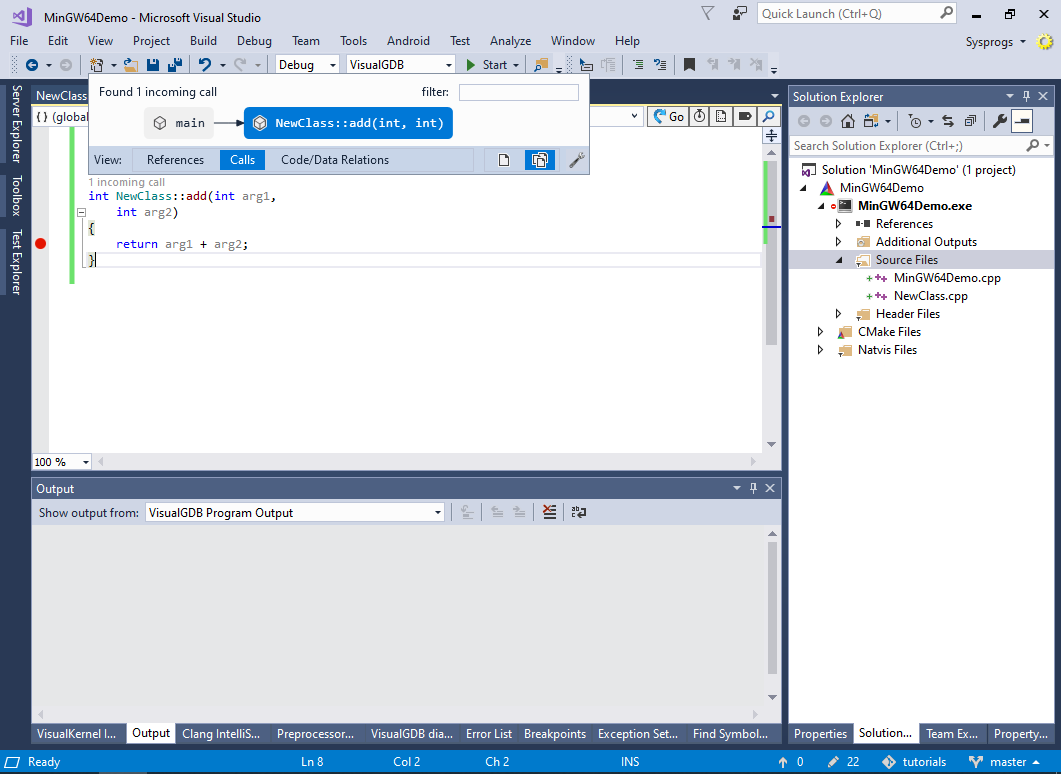 Creating MinGW64 applications with Visual Studio – VisualGDB
