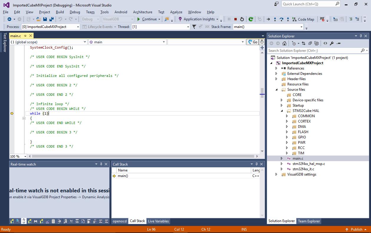 Using STM32CubeMX Startup Code Generator with VisualGDB – VisualGDB