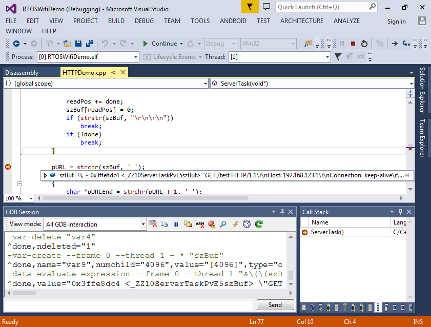 Creating a FreeRTOS-based WiFi HTTP server for ESP8266