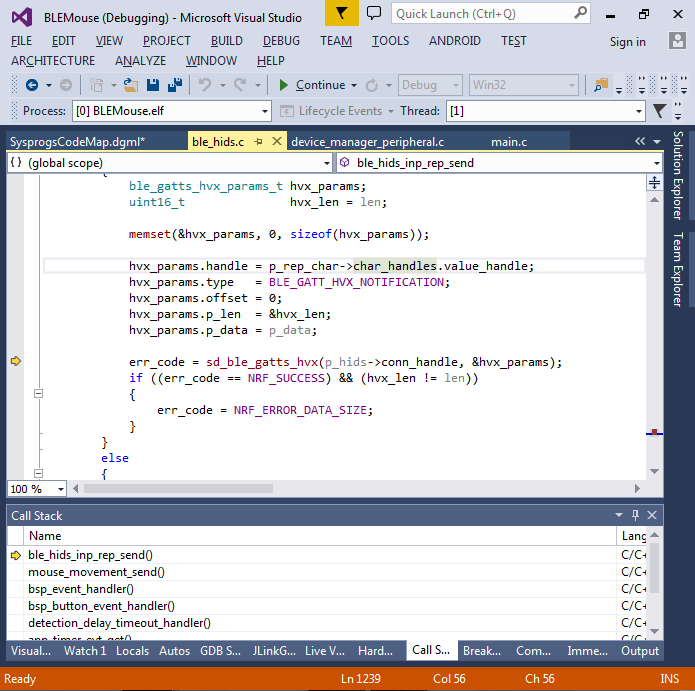 Creating a Bluetooth LE Mouse using Nordic nRF51 and Visual Studio