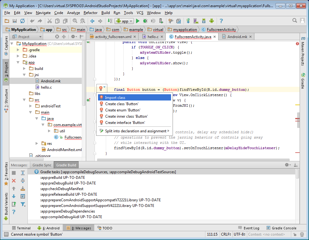 Co Developing Android Projects With Gradle Flavors With Visual