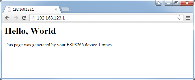 Creating a simple WiFi HTTP Server using ESP8266 – VisualGDB Tutorials