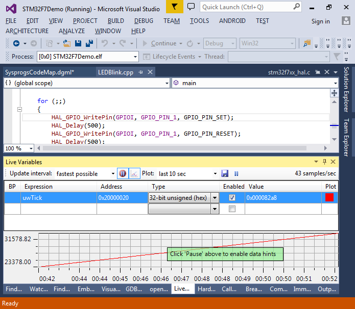 Developing STM32F7 firmware with Visual Studio and OpenOCD