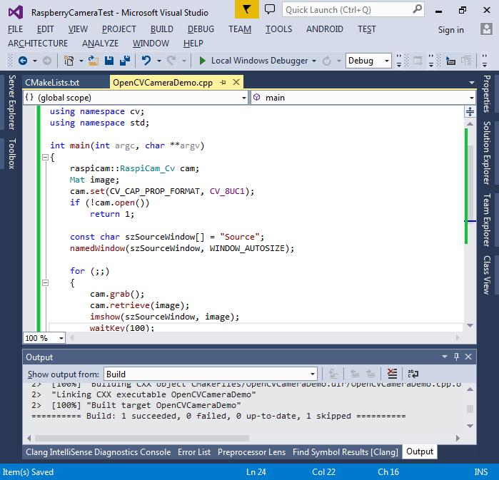 Using OpenCV with Raspberry Pi 2 Camera – VisualGDB Tutorials