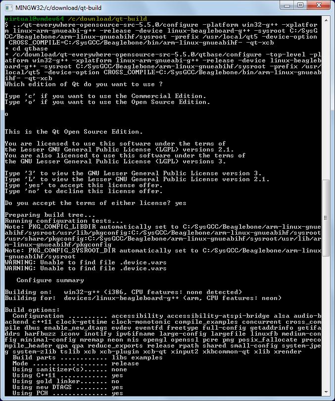 Cross-compiling Qt 5 5 for Beaglebone-Debian – VisualGDB Tutorials