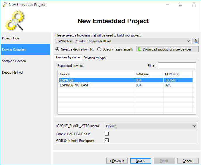 Debugging ESP8266 code with OpenOCD and Visual Studio