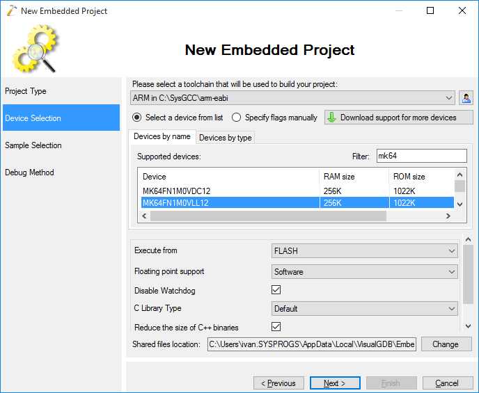 Adding support for more platforms to the Embedded Profiler