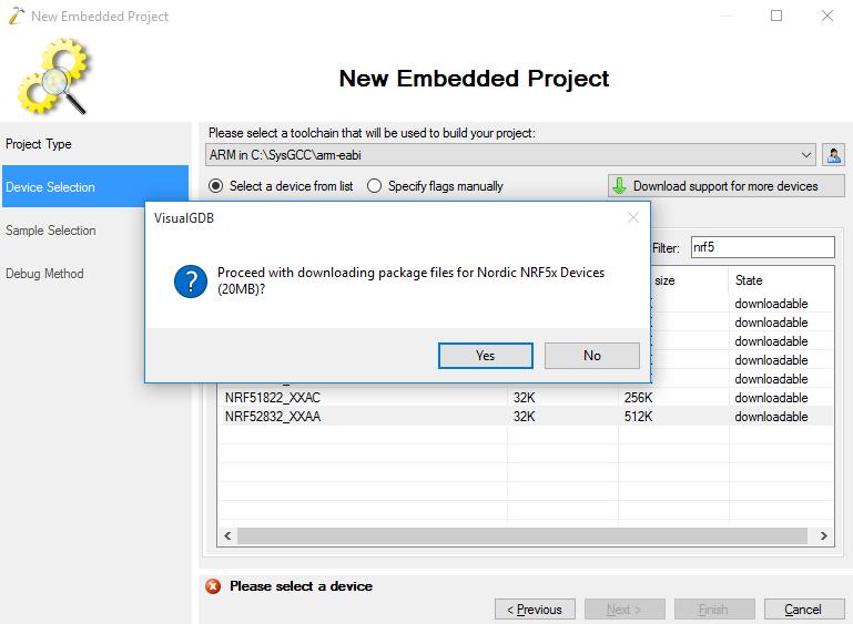 Developing Nordic nRF52 code with Visual Studio – VisualGDB