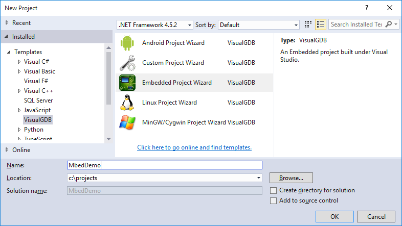 Developing Mbed firmware with Visual Studio – VisualGDB Tutorials