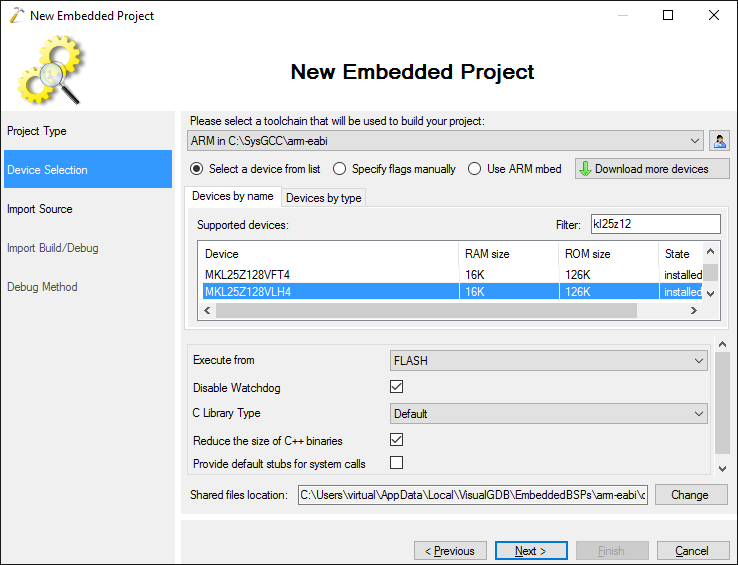 Importing Embedded Projects Built with External Tools – VisualGDB