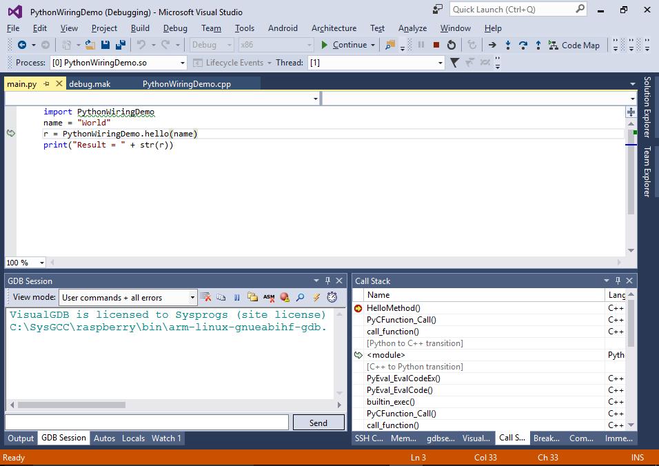 creating python interfaces for c libraries on raspberry pi rh visualgdb com Python ValueError Python ValueError