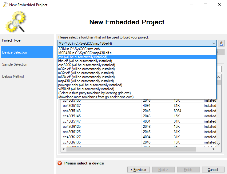 Developing firmware for AVR devices with Visual Studio – VisualGDB