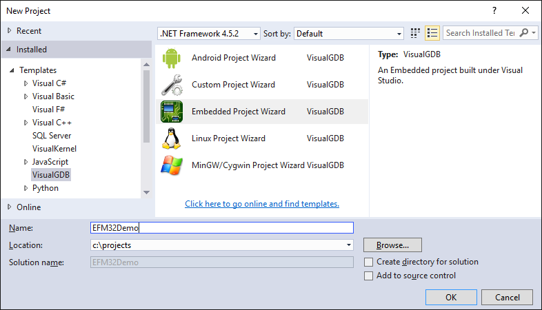 Developing firmware for EFM32 devices with Visual Studio – VisualGDB