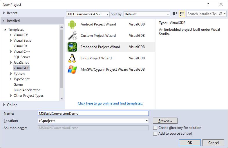 Converting VisualGDB Make projects to MSBuild – VisualGDB Tutorials