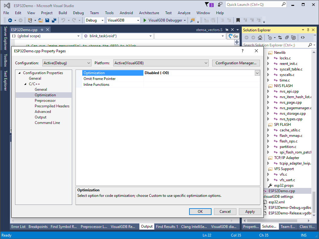 Developing Projects for ESP32 Devices with Visual Studio
