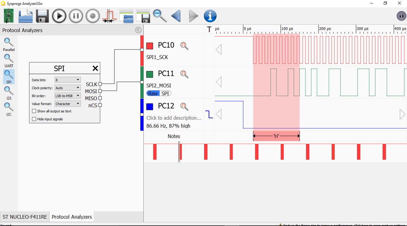 Using The Spi Interface On Stm32 Devices Visualgdb Tutorials Spidataclocktimingdiagram Then Switch Mosi Signal View From To Raw See Exact Bits That Correspond H Byte