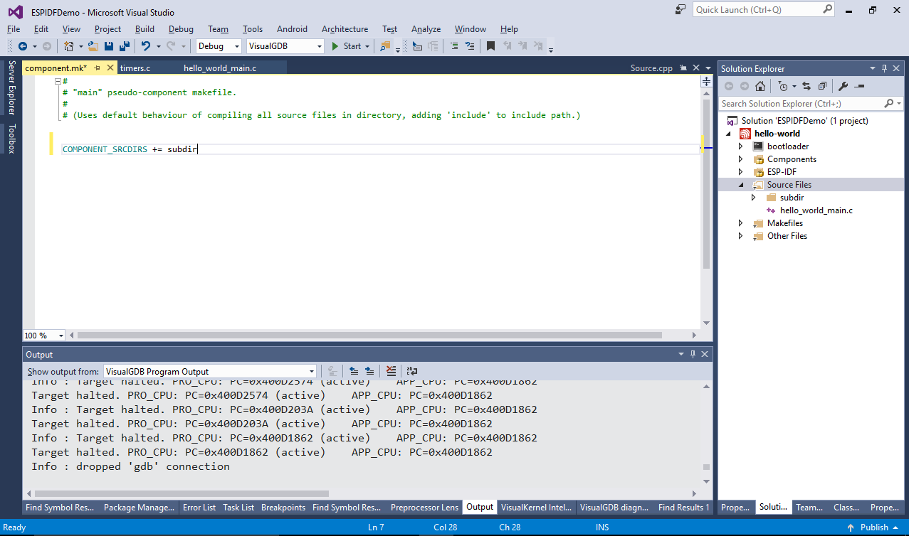 Creating Advanced ESP32 Projects with ESP-IDF – VisualGDB