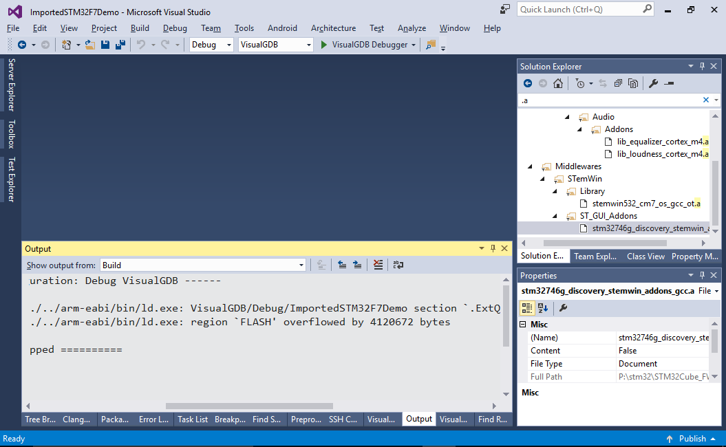 Importing Keil projects into VisualStudio with VisualGDB