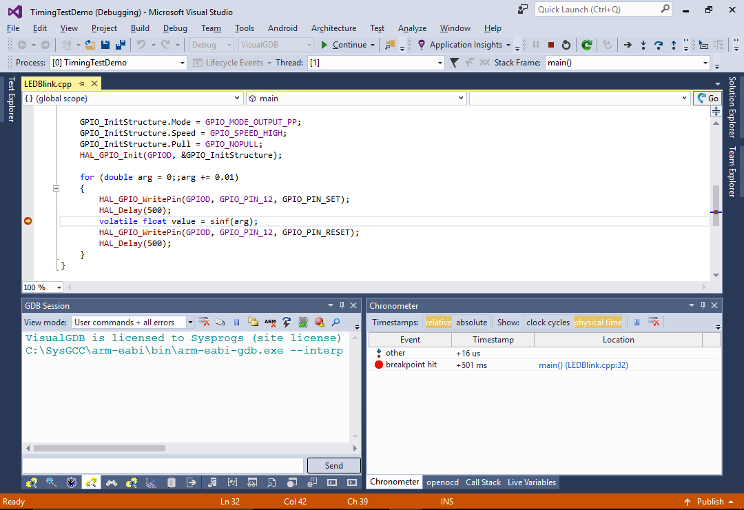 Using Chronometer to Quickly Analyze your Program Timing