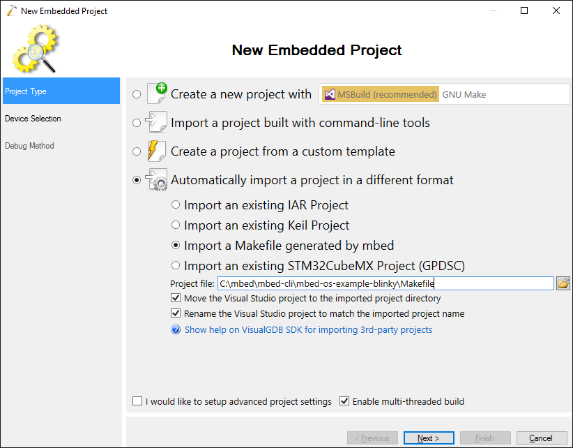 Importing mbed-cli Projects using Project Importer SDK