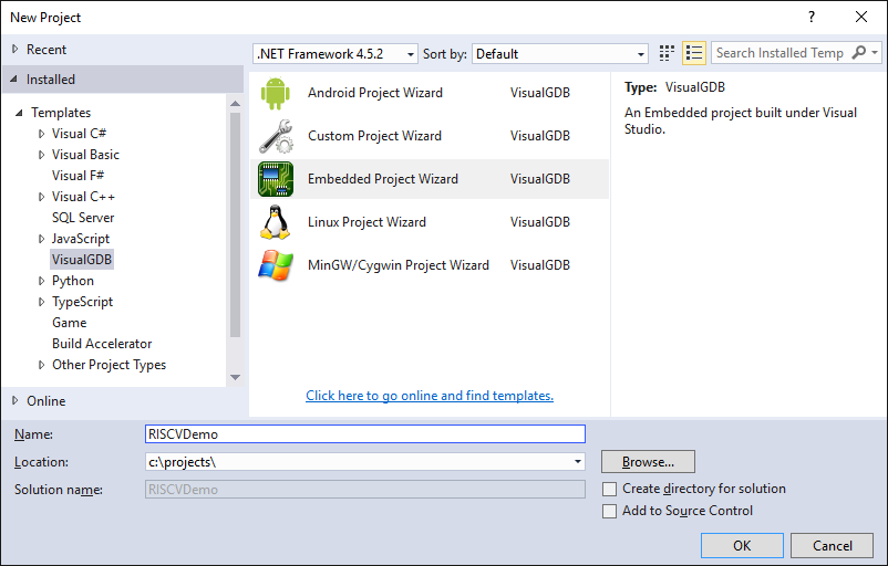 Developing RISC-V firmware with Visual Studio – VisualGDB