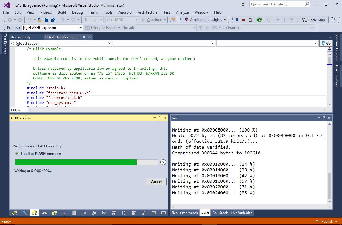 Diagnosing ESP32 FLASH memory programming issues – VisualGDB