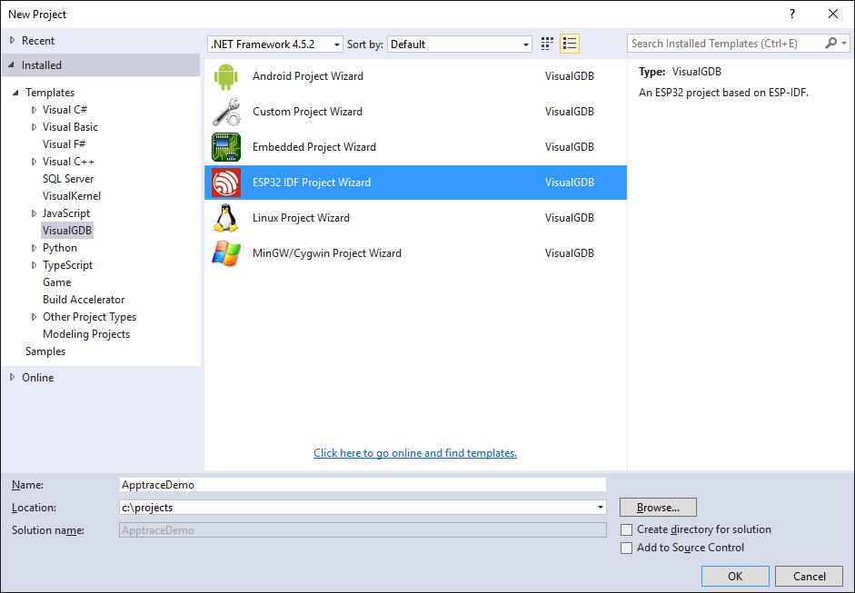 Using ESP32 Application Trace with VisualGDB – VisualGDB