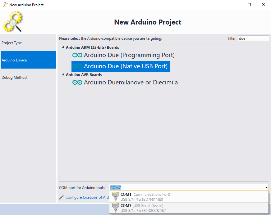 Developing code for ARM-based Arduino boards with Visual Studio