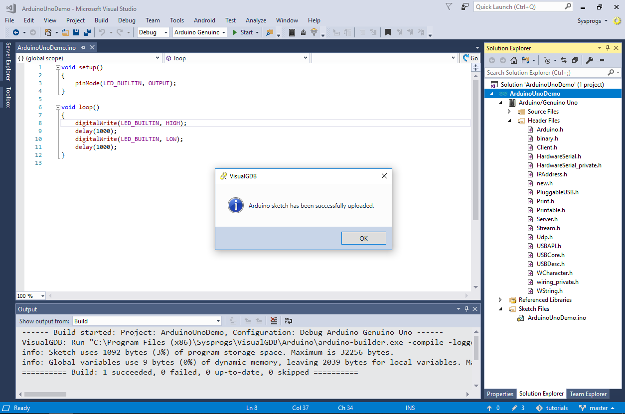 Developing Arduino Projects with Visual Studio – VisualGDB Tutorials