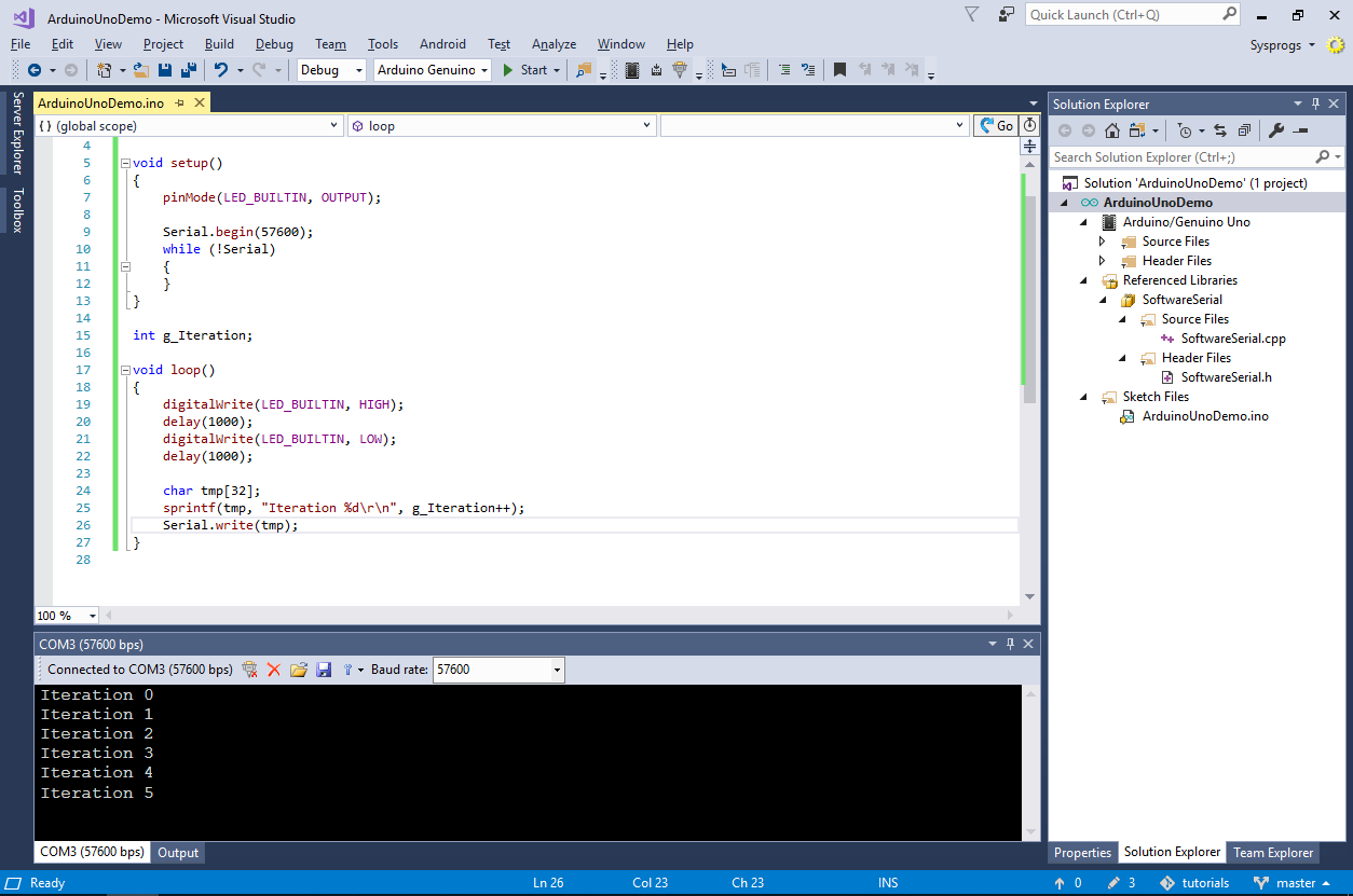 Developing Arduino Projects with Visual Studio – VisualGDB