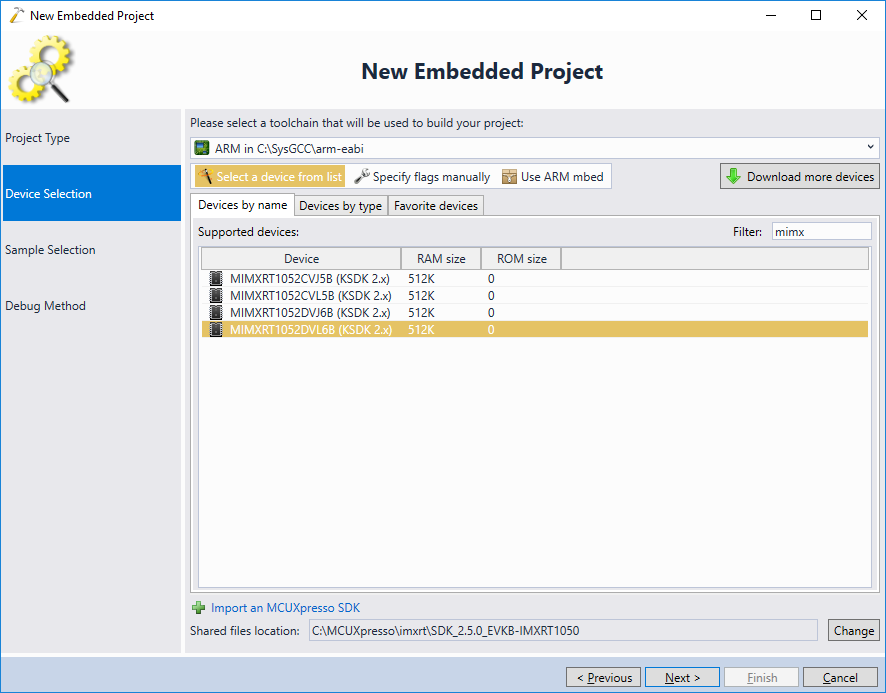 Developing Projects for the i MX RT Devices with Visual Studio
