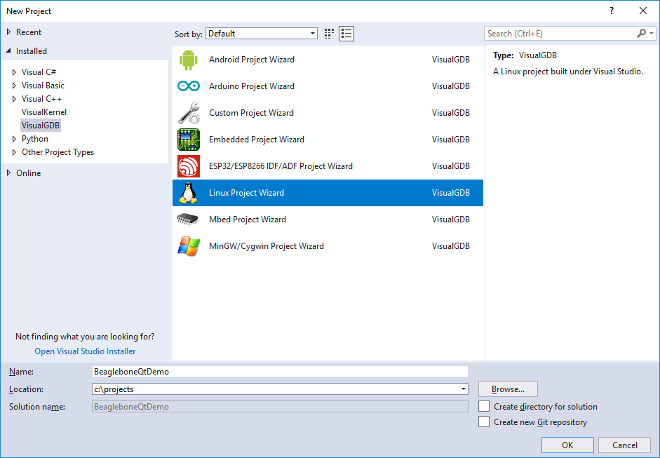 Cross-compiling Qt5 Applications for Beaglebonewith Visual