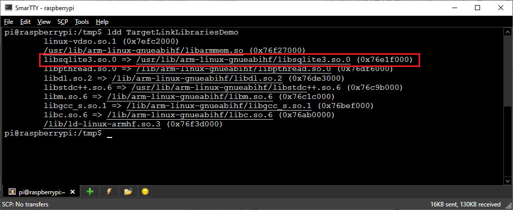 Using the target_link_libraries() statement to control the