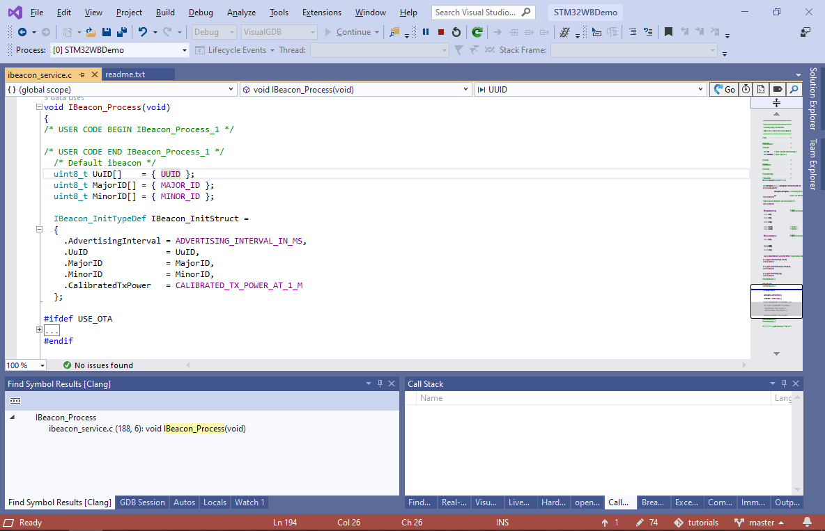 Developing STM32WB Projects with Visual Studio – VisualGDB