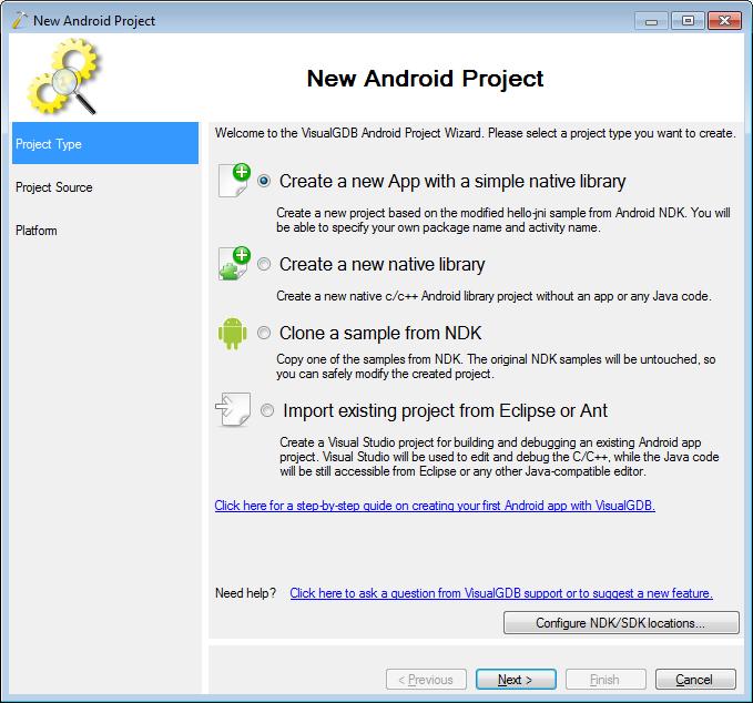 Using Visual Studio to Develop Native Android Code – VisualGDB Tutorials