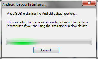 If it is being debugged please resume