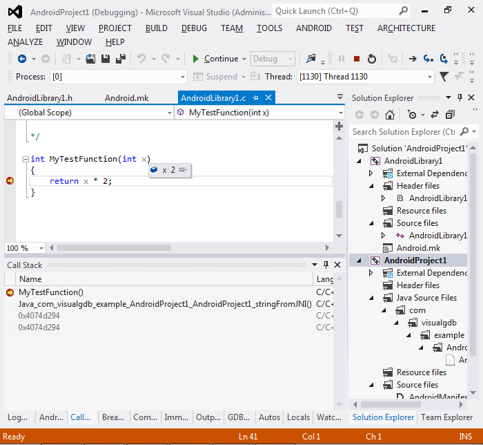 Creating native Android Libraries with Visual Studio – VisualGDB