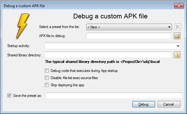 Debugging Arbitrary APK Files with Visual Studio – VisualGDB Tutorials
